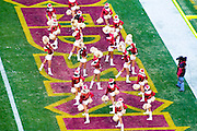 Washington Redskins Cheerleaders at the Fed Ex Field during the Redskins vs Eagles Game on December 11, 2007 at Fed Ex Field in Landover, Maryland. ([Julia Robertson] / via AP Images)