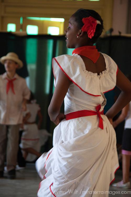 Central America, Cuba, Santa Clara. Cuban Dancer in costume.