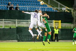 Sasa Ivkovic of NK Maribor Aleksandru Cretu of NK Maribor  vs Maksimenko Vitalijs of NK Olimpija Ljubljana during football game between NK Olimpija Ljubljana and NK Maribor in Final Round (18/19)  of Pokal Slovenije 2018/19, on 30th of May, 2014 in Arena Z'dezele, Ljubljana, Slovenia. Photo by Matic Ritonja / Sportida