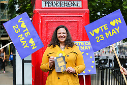 © Licensed to London News Pictures. 18/05/2019. London, UK. Liberal Democrats MEP candidate Helen Cross campaigning in Islington, north London for the forthcoming European Parliament election. Photo credit: Dinendra Haria/LNP