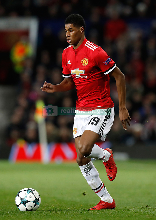 Manchester United's Marcus Rashford during the UEFA Champions League match at Old Trafford, Manchester. PRESS ASSOCIATION Photo. Picture date: Tuesday December 5, 2017