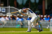 George Scott of Middlesex batting during the Specsavers County Champ Div 2 match between Middlesex County Cricket Club and Glamorgan County Cricket Club at Radlett Cricket Ground, Radlett, Herfordshire,United Kingdom on 17 June 2019.
