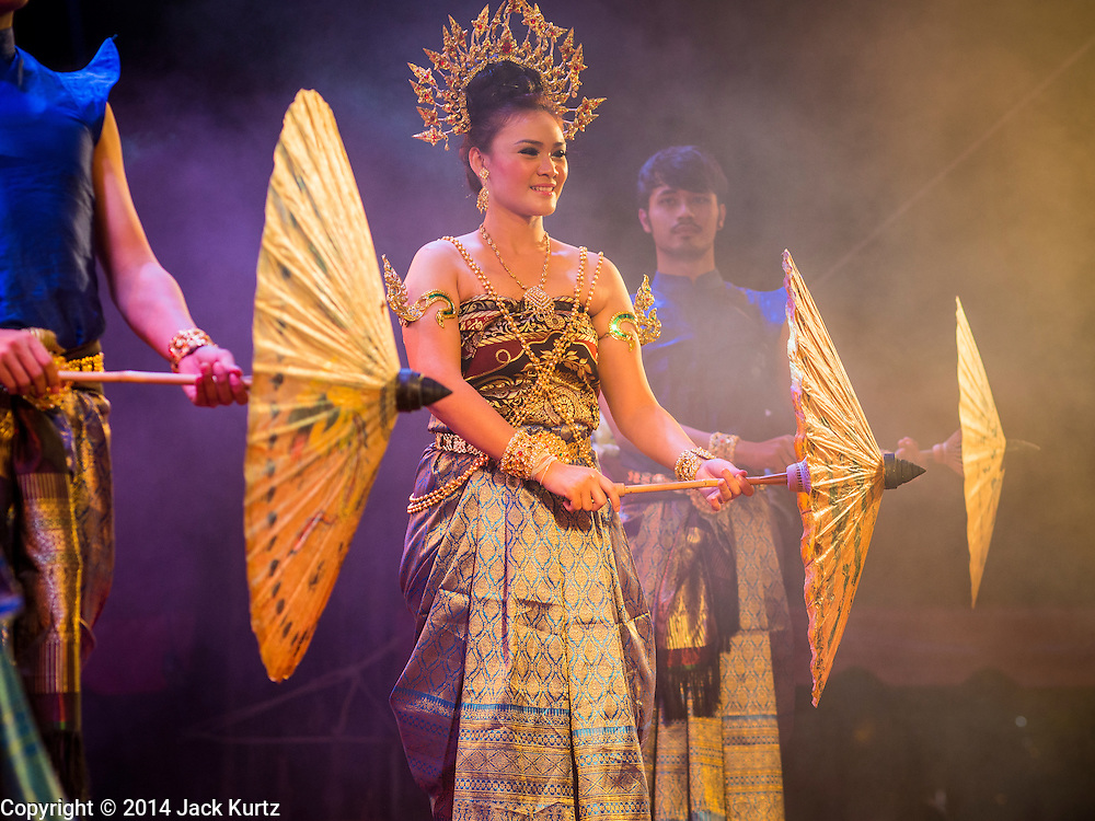 26 DECEMBER 2014 - PATONG, PHUKET, THAILAND:  A Thai cultural show during the memorial service for victims of the 2004 tsunami on Patong Beach in Patong, Phuket. Hundreds of people died in Patong and nearly 5400 people died on Thailand's Andaman during the 2004 Indian Ocean Tsunami that was spawned by an undersea earthquake off the Indonesian coast on Dec 26, 2004. In Thailand, many of the dead were tourists from Europe. More than 250,000 people were killed throughout the region, from Thailand to Kenya. There are memorial services across the Thai Andaman coast this weekend.   PHOTO BY JACK KURTZ
