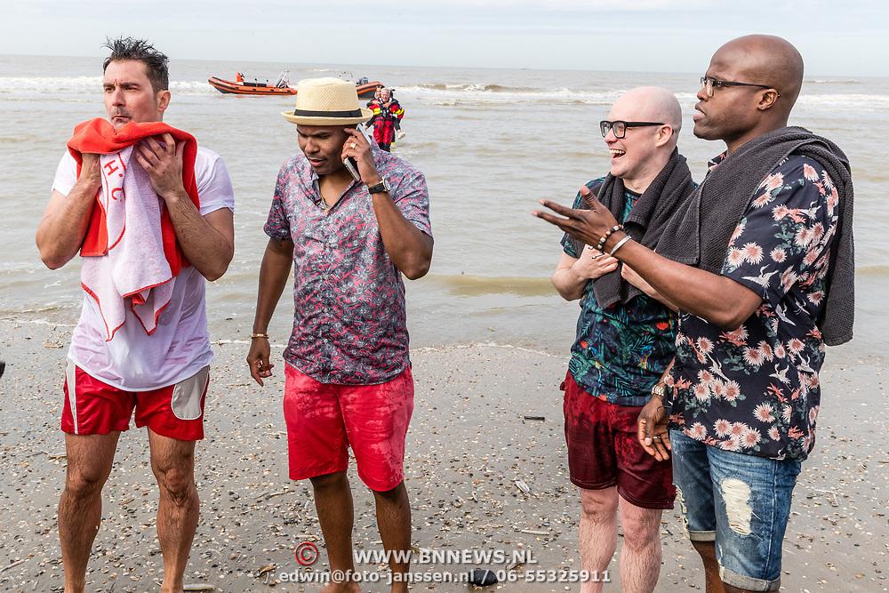 NLD/Overveen/20170330 - Gabbers presenteren nieuwe show, aankomst Jandino Asporaat, Guido Weijers, Roue Verveer en Philip Geubels