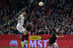 December 13, 2018 - Seville, Andalucia, Spain - Andre Silva of Sevilla FC heats the ball during the Europa League match between Sevilla FC and Krasnodar in Ramón Sánchez Pizjuán Stadium (Seville) (Credit Image: © Javier MontañO/Pacific Press via ZUMA Wire)