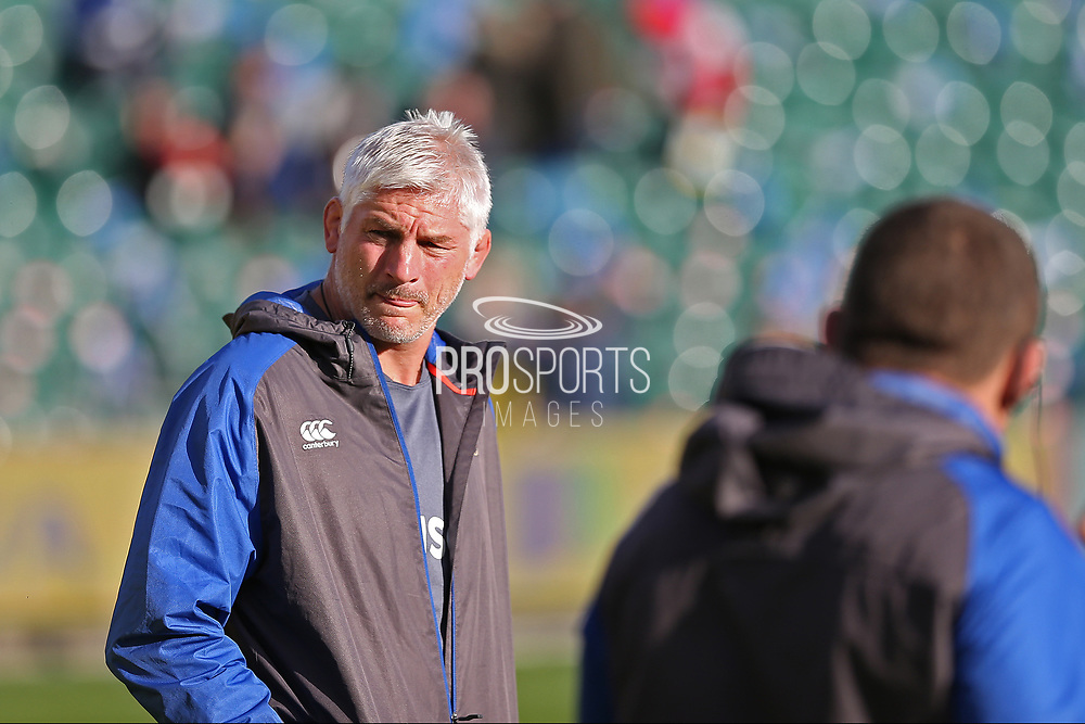 Director of Rugby  Todd Blackadder looking over his team selection before the Aviva Premiership match between Bath Rugby and Gloucester Rugby at the Recreation Ground, Bath, United Kingdom on 29 October 2017. Photo by Gary Learmonth.