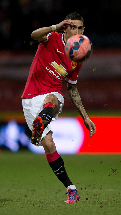 Angel Di Maria of Manchester United during the FA Cup match at Deepdale, Preston<br /> Picture by Russell Hart/Focus Images Ltd 07791 688 420<br /> 16/02/2015