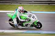 Luke Mossey (12) Quattro Plant Teccare Kawasaki during practice at the BSB Championship at the TT Circuit,  Assen, Netherlands on 1 October 2016. Photo by Nigel Cole.