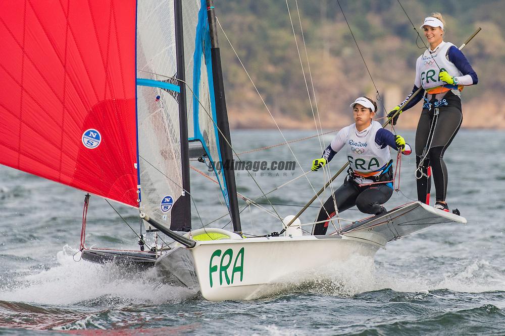 49er FX FRA Sarah Steyaert FRASS1 Aude Compan FRAAC66<br /> <br /> 2016 Olympic Games <br /> Rio de Janeiro