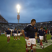 French players leave the pitch after their loss during the Argentina V France test match at Estadio Jose Amalfitani, Buenos Aires,  Argentina. 26th June 2010. Photo Tim Clayton...