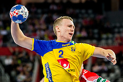 Philip Henningsson (SWE) during handball match between National teams of Denmark and Sweden in Half Final match of Men's EHF EURO 2018, on January 26, 2018 in Arena Zagreb, Zagreb, Croatia. Photo by Ziga Zupan / Sportida