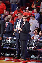 11 February 2017:  Brian Wardle and Drew Adams during a College MVC (Missouri Valley conference) mens basketball game between the Bradley Braves and Illinois State Redbirds in  Redbird Arena, Normal IL