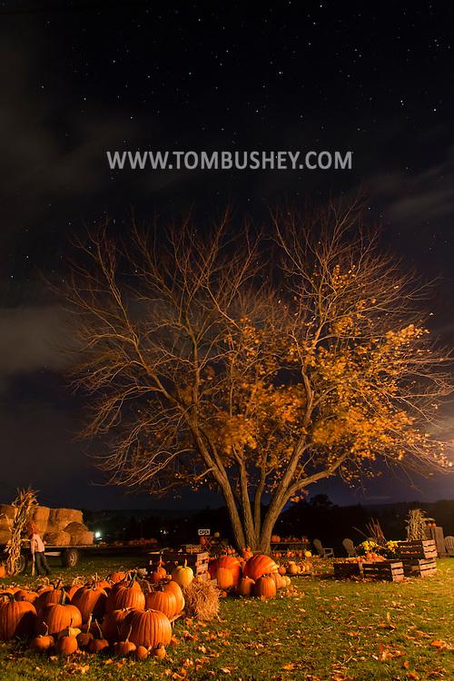 Goshen, New York  - Night scenes on Oct. 16, 2015.