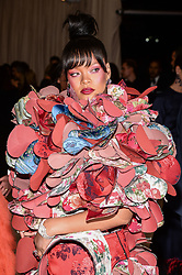 Rihanna arriving at The Metropolitan Museum of Art Costume Institute Benefit celebrating the opening of Rei Kawakubo / Comme des Garcons : Art of the In-Between held at The Metropolitan Museum of Art  in New York, NY, on May 1, 2017. (Photo by Anthony Behar) *** Please Use Credit from Credit Field ***