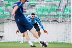 Samir Handanovic during practice session of Slovenian National Football Team before Euro 2016 Qualifications match against Switzerland, on September 1, 2015 in SRC Stozice, Ljubljana, Slovenia. Photo by Urban Urbanc / Sportida