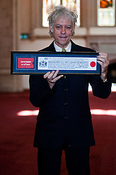 Bob Geldof receives Freedom of the City of London. <br /> Bob Geldof receives Freedom of the City of London at The Guidhall. The honour is in recognition of his services to music and outstanding contribution to international social justice and peace, London, United Kingdom. Monday, 16th September 2013. Picture by Piero Cruciatti / i-Images
