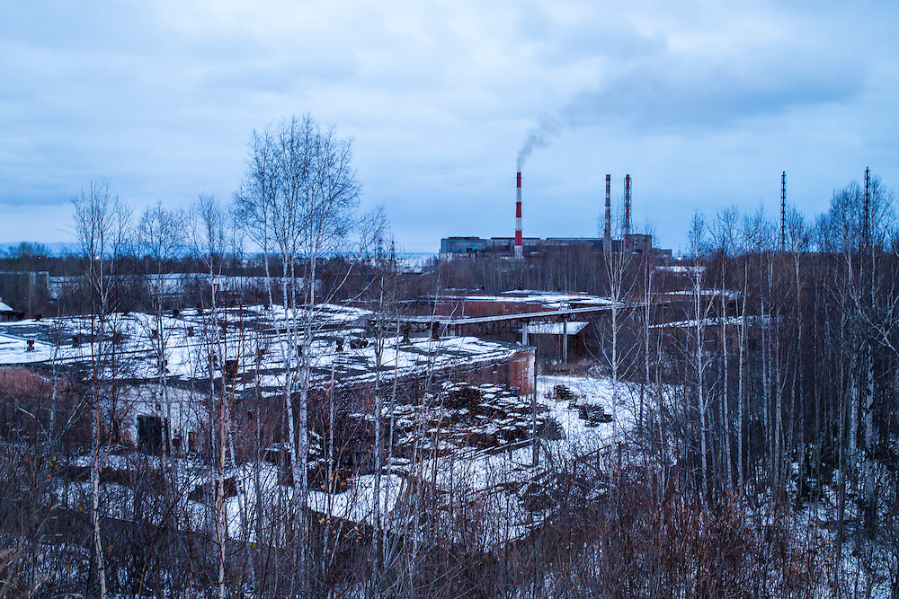 The Baikalsk Pulp and Paper Mill on Monday, October 21, 2013 in Baikalsk, Russia.