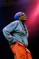 Macy Gray, the Grammy Award winning neo soul/R&B singer, performs on the main stage, Sunday 9th July at the T in the Park music festival, held at Balado, Kinross in Fife, Scotland. The festival was held on the weekend of Saturday 8 July and Sunday 9 July 2000..