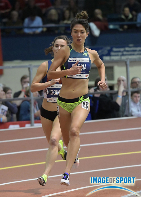 Feb 11, 2017; New York, NY, USA; Stephanie Garcia (USA) places second in the women's 3,000m in 8:53.48 during the 110th Millrose Games at The Armory.