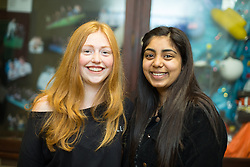 © Licensed to London News Pictures . 24/08/2017 . Rochdale , UK . LUCY CRABTREE (16 from Norden gets 1xA**, 2xA*, 3xA and 3xB) with friend ZOYA GILL (16 from Rochdale gets 1xA*, 6xA, 1xB and 2xC) . Students at Oulder Hill Community School collect their GCSE exam results . Photo credit : Joel Goodman/LNP