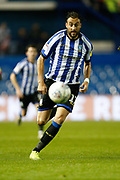 Atdhe Nuhiu of Sheffield Wednesday during the EFL Sky Bet Championship match between Sheffield Wednesday and Stoke City at Hillsborough, Sheffield, England on 22 October 2019.