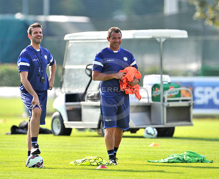 Udine 07/07/2014 calcio <br /> Udinese - Serie A 2014/15<br /> Primo allenamento per l'Udinese di Andrea Stramaccioni, nella foto con Dejan Stankovic, secondo allenatore Udinese.<br /> &copy; foto di Simone Ferraro