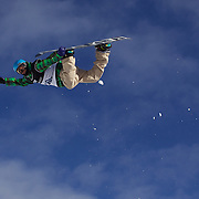 Ayumu Nedefuji, Japan, in action during the Men's Half Pipe Qualification in the LG Snowboard FIS World Cup, during the Winter Games at Cardrona, Wanaka, New Zealand, 27th August 2011. Photo Tim Clayton..