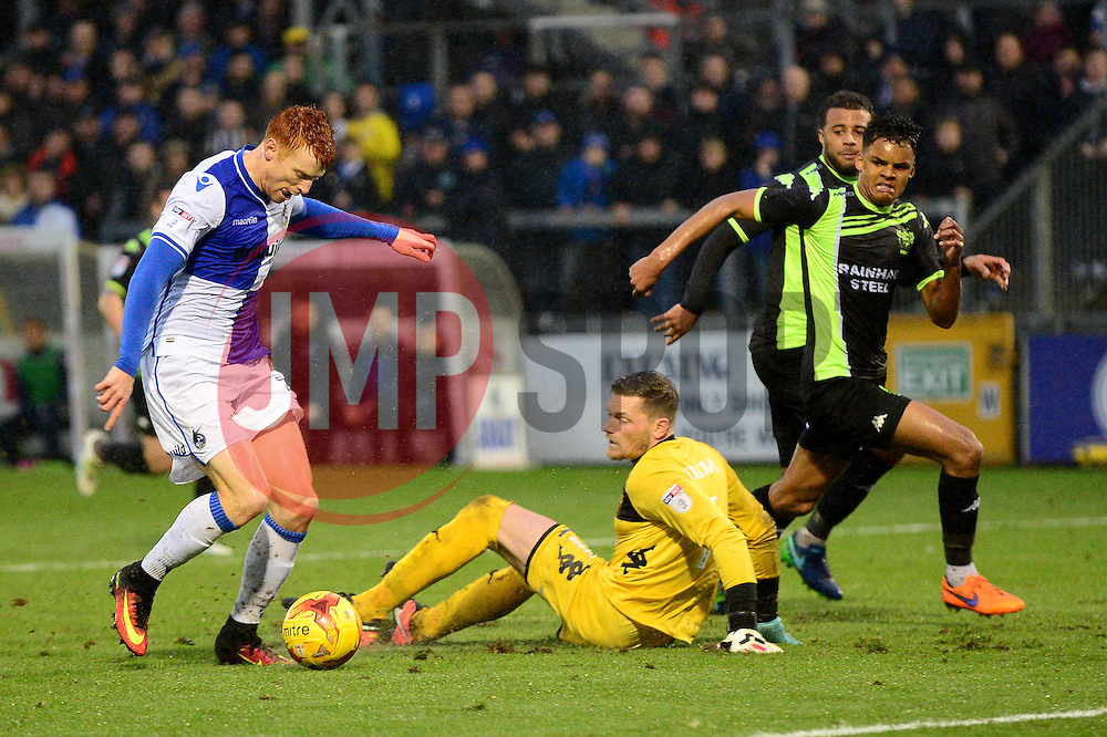 Rory Gaffney of Bristol Rovers rounds the keeper - Mandatory by-line: Dougie Allward/JMP - 10/12/2016 - FOOTBALL - Memorial Stadium - Bristol, England - Bristol Rovers v Bury - Sky Bet League One