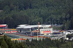 22.08.2014, Circuit de Spa, Francorchamps, BEL, FIA, Formel 1, Grand Prix von Belgien, Training, im Bild Blick auf die Boxenanlage und den Start Ziel Bereich // during the Practice of Belgian Formula One Grand Prix at the Circuit de Spa in Francorchamps, Belgium on 2014/08/22. EXPA Pictures &copy; 2014, PhotoCredit: EXPA/ Eibner-Pressefoto/ Bermel<br /> <br /> *****ATTENTION - OUT of GER*****