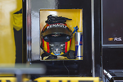 March 9, 2018 - Barcelona, Catalonia, Spain - Carlos Sainz (55) helmet during the test of F1 celebrated at Circuit of Barcelonacon 9th March 2018 in Barcelona, Spain. (Credit Image: © Joan Valls/NurPhoto via ZUMA Press)