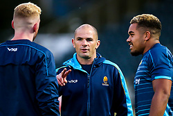 Worcester Warriors Academy Back Transition Coach Gordon Ross speaks with Mason Tonks and Ollie Lawrence of Worcester Cavaliers - Mandatory by-line: Robbie Stephenson/JMP - 24/09/2018 - RUGBY - Sixways Stadium - Worcester, England - Worcester Cavaliers v Sale Jets - Premiership Rugby Shield
