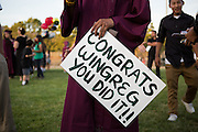 Cal Hills High School seniors receive their diplomas during the Class of 2013 graduation at the Milpitas Sports Center in Milpitas, California, on June 6, 2013. (Stan Olszewski/SOSKIphoto)
