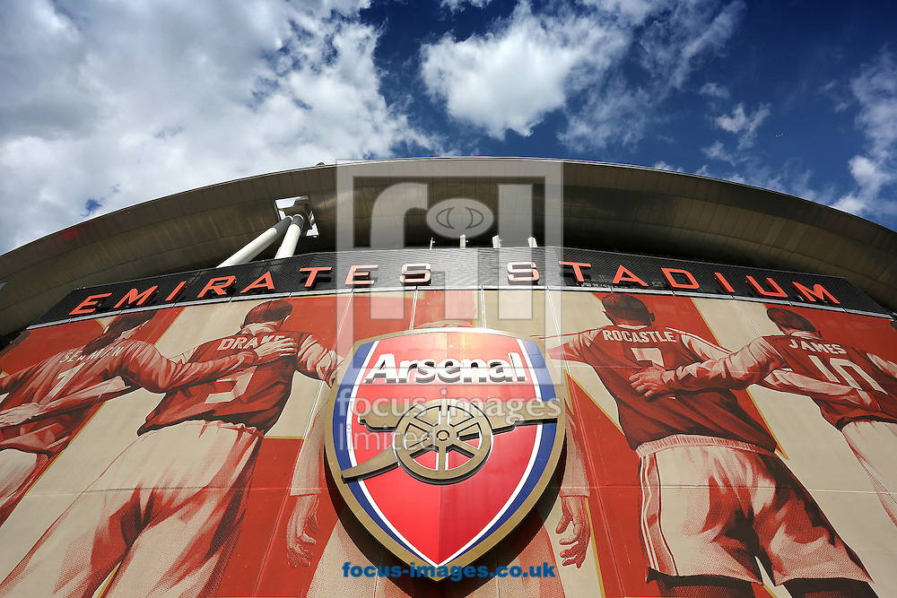 The Emirates Stadium, London, home of Arsenal Football Club before the Barclays Premier League match between Arsenal and Crystal Palace.<br /> Picture by Richard Calver/Focus Images Ltd +447792 981244<br /> 16/08/2014