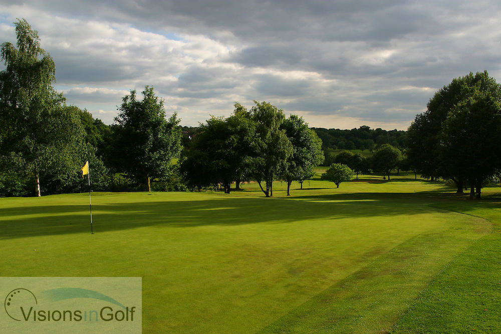 16th hole, par 3, Sundridge Park GC, West Course, Bromley, Kent. <br /> Photo Mark Newcombe / visionsingolf.com