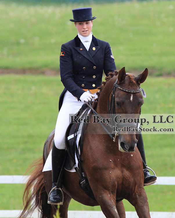 Jamie Holland and Fleurina at the 2010 Equivents Spring Classic in Milton, Ontario.