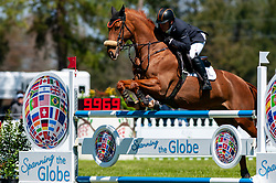 March 22, 2019 - Raeford, North Carolina, US - March 22, 2019 - Raeford, N.C., USA - BRUCE (BUCK) DAVIDSON JR. of the United States riding COPPER BEACH  competes in the show jumping CCI-4S division at the sixth annual Cloud 11-Gavilan North LLC Carolina International CCI and Horse Trial, at Carolina Horse Park. The Carolina International CCI and Horse Trial is one of North AmericaÃ•s premier eventing competitions for national and international eventing combinations, hosting International competition at the CCI2*-S through CCI4*-S levels and National levels of Training through Advanced. (Credit Image: © Timothy L. Hale/ZUMA Wire)