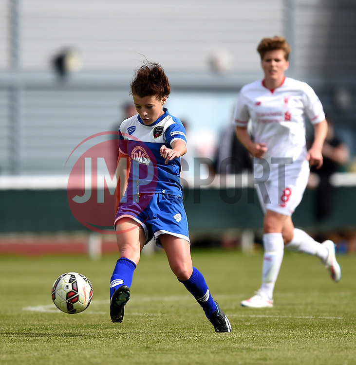 Angharad James of Bristol Academy Women shoots - Mandatory by-line: Paul Knight/JMP - Mobile: 07966 386802 - 13/09/2015 -  FOOTBALL - Stoke Gifford Stadium - Bristol, England -  Bristol Academy Women v Liverpool Ladies FC - FA WSL Continental Tyres Cup
