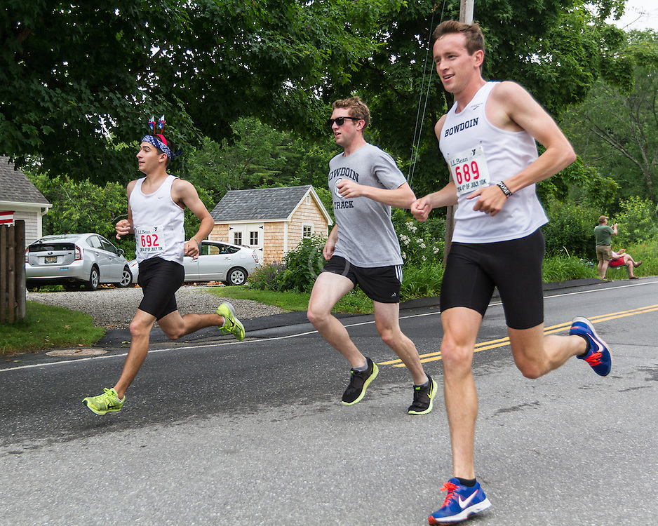LL Bean Fourth of July 10K road race: Coby Horowitz, Bowdoin, Kevin Hoose
