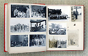 open page of an old family photo album Japan Asia 1960s and earlier
