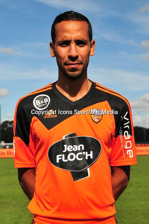 Walid Mesloub - 25.09.2014 - Photo officielle Lorient - Ligue 1 2014/2015<br /> Photo : Philippe Le Brech / Icon Sport