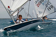 World Sailing Emerging Nations Program - Boca Chica Sailing Club, Santo Domingo 08/19/2017 - DAY 1- Mateo Di Blasi from Virgin Islands during his exercise