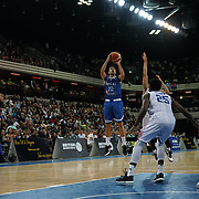 The Copper Box Arena, London, England, UK. 19th August 2017. Greece wins the Great Britain (W) v Greece international (B) basketball match at The Copper Box Arena in Olympic Park, Stratford.