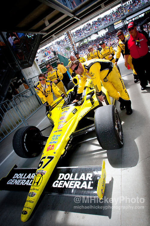 Sarah Fisher Racing seen at the 2011 Indy 500 in Indianapolis, Indiana. .Photo by Infiniti Images