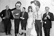 Claes Oldenburg, Tom Wesselmann, Roy Lichtenstein, Jean Shrimpton, James Rosenquist and Andy Warhol