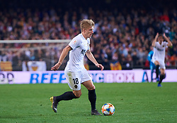 February 28, 2019 - Valencia, U.S. - VALENCIA, SPAIN - FEBRUARY 28: Daniel Wass, midfielder of Valencia CF with the ball during the Copa del Rey match between Valencia CF and Real Betis Balompie at Mestalla stadium on February 28, 2019 in Valencia, Spain. (Photo by Carlos Sanchez Martinez/Icon Sportswire) (Credit Image: © Carlos Sanchez Martinez/Icon SMI via ZUMA Press)
