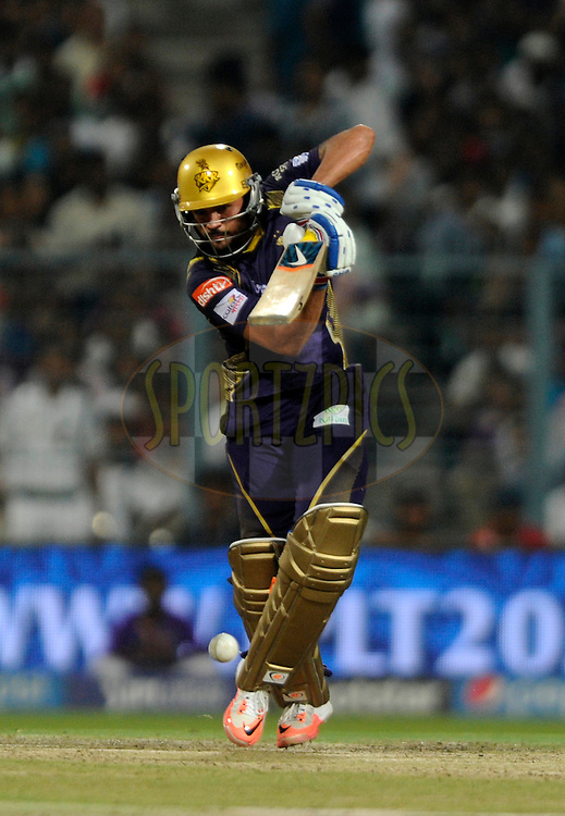 Manish Pandey of Kolkata Knight Riders  Riders bats during match 38 of the Pepsi IPL 2015 (Indian Premier League) between The Kolkata Knight Riders and The Sunrisers Hyderabad held at Eden Gardens Stadium in Kolkata, India on the 4th May 2015.<br /> <br /> Photo by:  Pal Pillai / SPORTZPICS / IPL