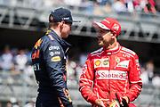 October 27-29, 2017: Mexican Grand Prix. Sebastian Vettel (GER), Scuderia Ferrari, SF70H , Max Verstappen (DEU), Red Bull Racing, RB13