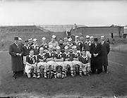 24/05/1958<br /> 05/24/1958<br /> 24 May 1958<br /> Soccer, Schoolboy International: England v Ireland at Dalymount Park, Dublin. The Irish team.