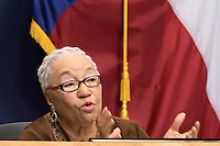 Austin District 1 City Council Member Ora Houston at City Council Meeting
