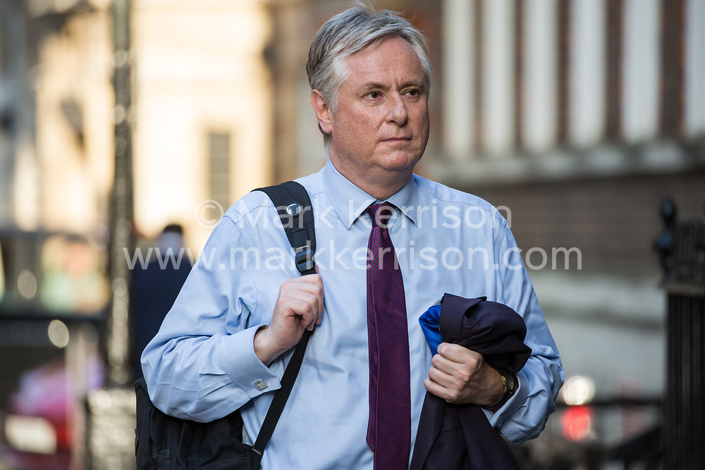 London, UK. 23 July, 2019. Guests arrive to attend a celebration in Westminster of Boris Johnson's election as Conservative Party leader and replacement of Theresa May as Prime Minister organised by the pro-Brexit European Research Group (ERG).